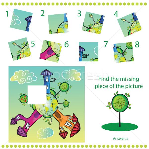 Trovare mancante pezzo puzzle gioco bambini Foto d'archivio © Natali_Brill
