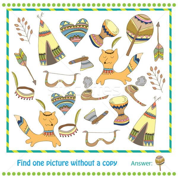 Ilustración educativo juego ninos encontrar Foto Foto stock © Natali_Brill