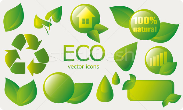 Collection of ecology signs Stock photo © Natali_Brill