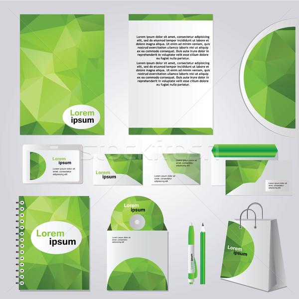 Corporativo identidade projeto vetor artigos de papelaria conjunto Foto stock © Natali_Brill