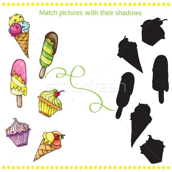 Colorato gustoso cartoon gelato match immagini Foto d'archivio © Natali_Brill
