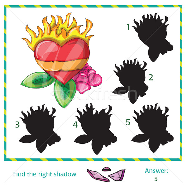 Encontrar sombra fotos Foto vector corazón Foto stock © Natali_Brill