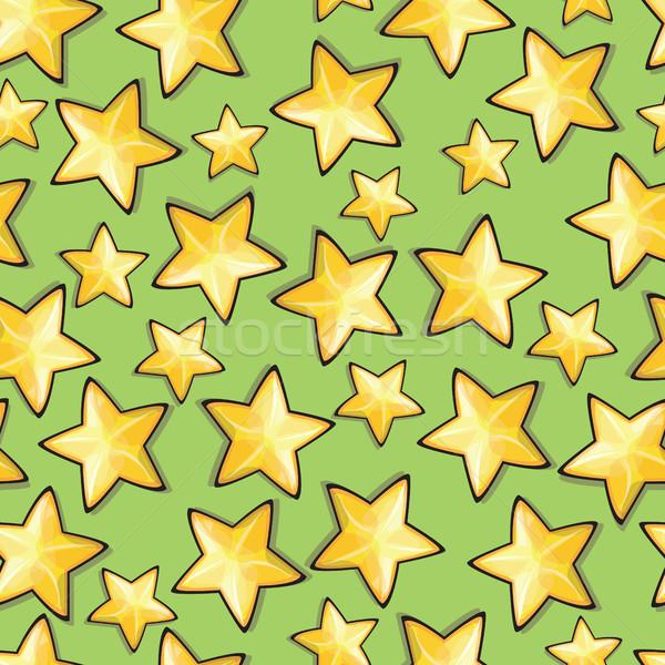 Seamless pattern with cartoon stars Stock photo © Natali_Brill