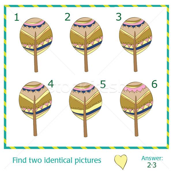Bulmak iki aynı resimleri ağaçlar ağaç Stok fotoğraf © Natali_Brill