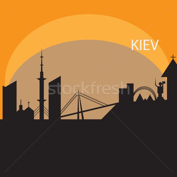 Skyline arancione vettore file viaggio Foto d'archivio © Natali_Brill