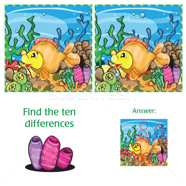 Find ten differences Stock photo © Natali_Brill