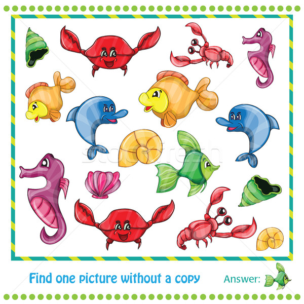 Illustration Educational Game for Children - find picture without copy Stock photo © Natali_Brill