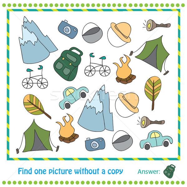 иллюстрация образовательный игры детей находить фотография Сток-фото © Natali_Brill