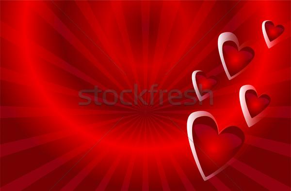ベクトル 心 赤 バレンタインデー デザイン 紙 ストックフォト © Natali_Brill