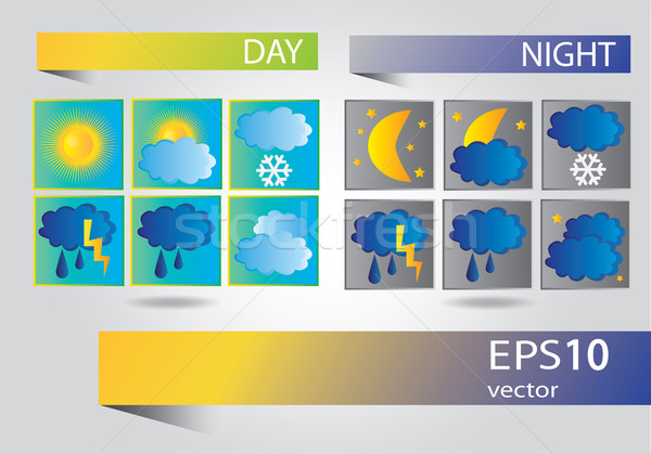 Weather icons design Stock photo © Natali_Brill