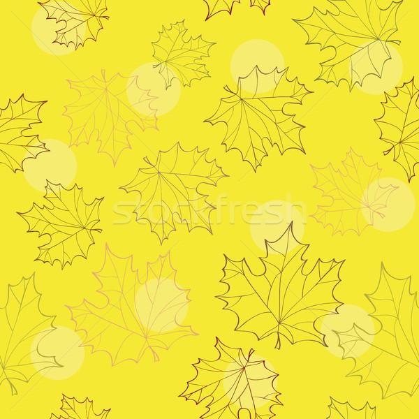 Autumn leaves seamless background Stock photo © Natali_Brill