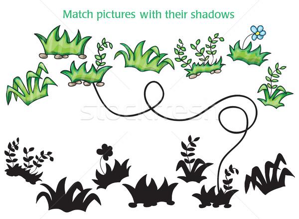 Erba fiori cartoon gioco bambini bianco Foto d'archivio © Natali_Brill