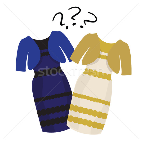 Puzzle what color of dress white and  gold or black blue Stock photo © Natali_Brill