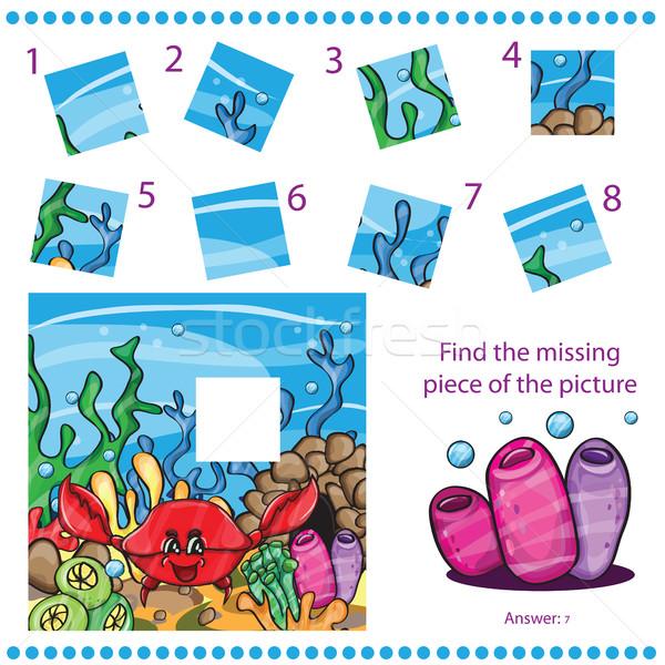 Encontrar desaparecido peça quebra-cabeça jogo crianças Foto stock © Natali_Brill