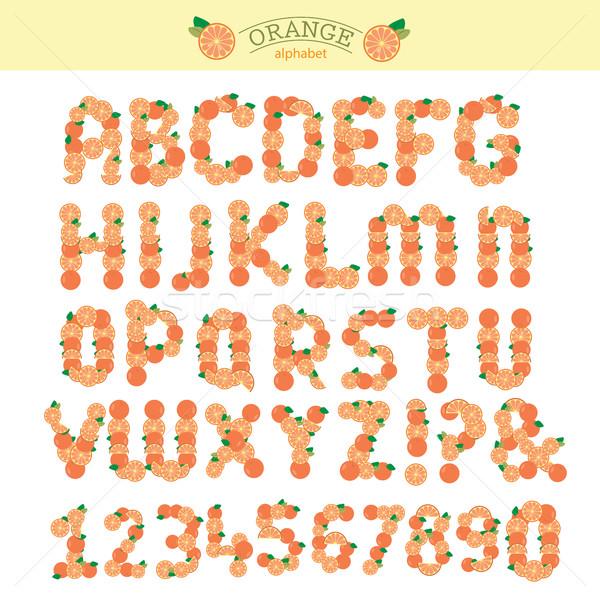オレンジ 特別 フォント 見出し 文字 ベクトル ストックフォト © Natali_Brill