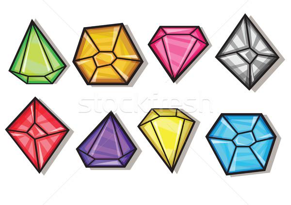 漫画 ベクトル ダイヤモンド 異なる ストックフォト © Natali_Brill