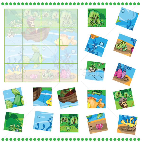 Stock photo: Jigsaw Puzzle game for Children