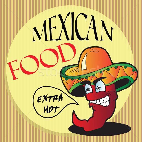 Mexican pepper cartoon character  Stock photo © Natali_Brill