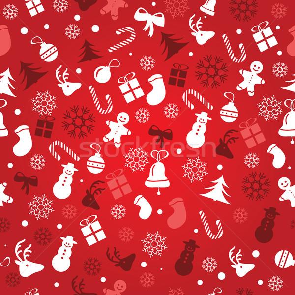 Natal sem costura escolha papel de embrulho Foto stock © Natali_Brill