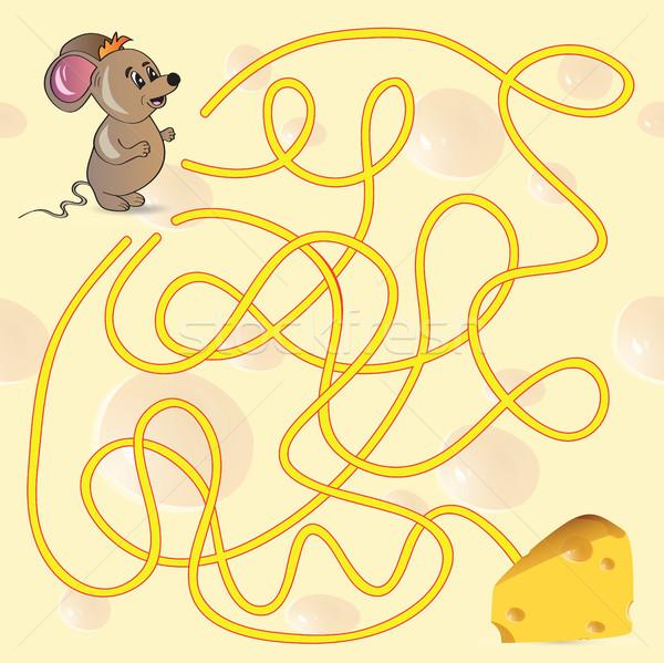 Cute Mouse's Maze Game  Stock photo © Natali_Brill
