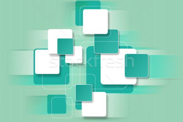 Bright unique background with square blocks for design Stock photo © Natali_Brill