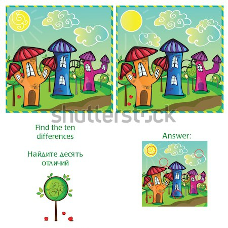 Find differences between the two images Stock photo © Natali_Brill