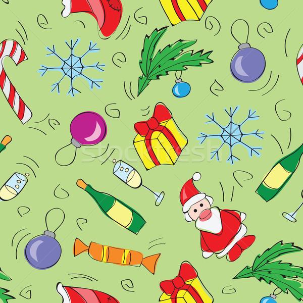 クリスマス 装飾 花 オレンジ 緑 ストックフォト © Natali_Brill