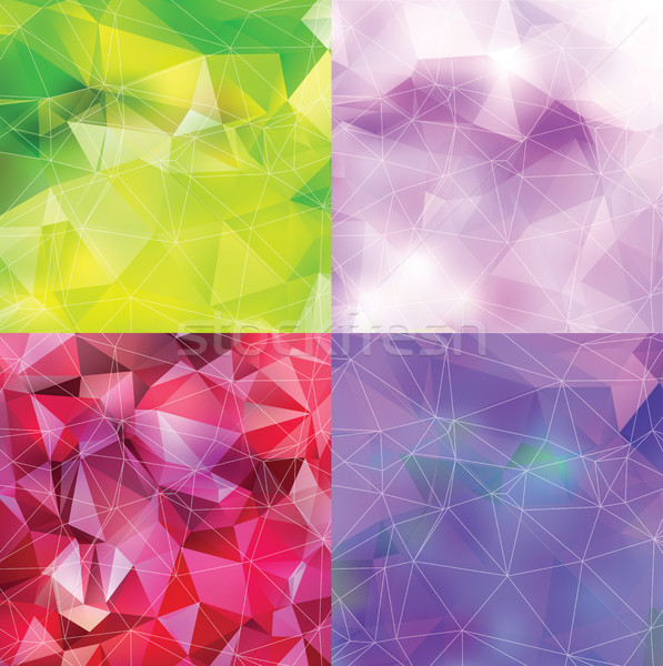 Abstract triangle backgrounds set Stock photo © Natali_Brill