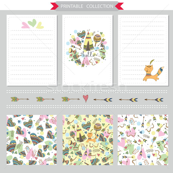 Vecteur notepad design papiers Photo stock © Natali_Brill