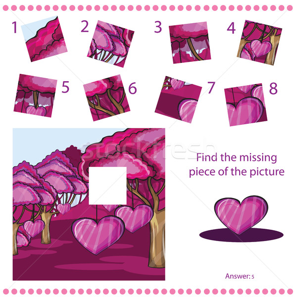 Find missing piece - Puzzle game for Children Stock photo © Natali_Brill