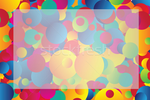 Foto stock: Quadro · círculos · vetor · brilhante · arco-íris · projeto