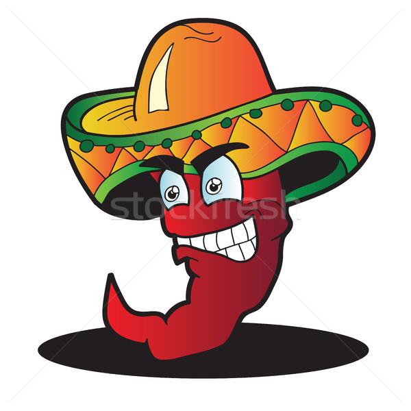 Mexicano pimenta isolado branco comida Foto stock © Natali_Brill