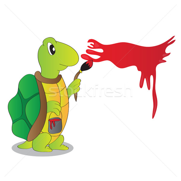 Cartoon Character Funny Turtle  Stock photo © Natali_Brill