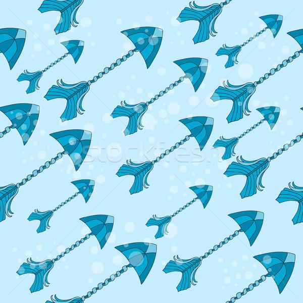 Vector sin costura colorido étnicas patrón flechas Foto stock © Natali_Brill