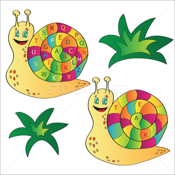 Vector illustration of a snail - puzzle for child Stock photo © Natali_Brill