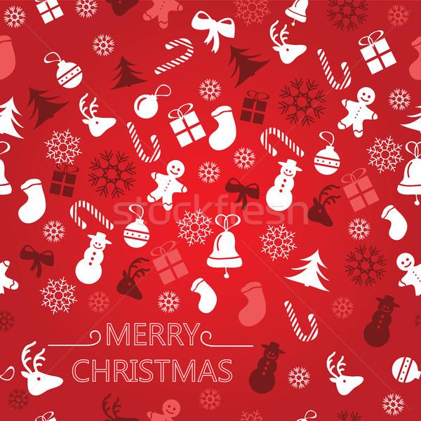 クリスマス シームレス 選択 包装紙 ストックフォト © Natali_Brill