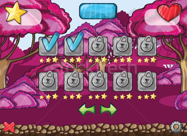 Ekran bilgisayar oyunu büyü orman bilgisayar Stok fotoğraf © Natali_Brill