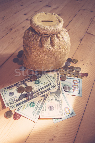 Box for coins and money Stock photo © Natali_Brill