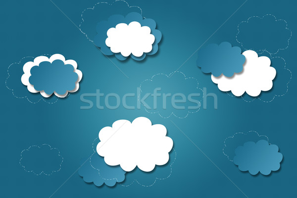 Bright blue background with clouds  Stock photo © Natali_Brill