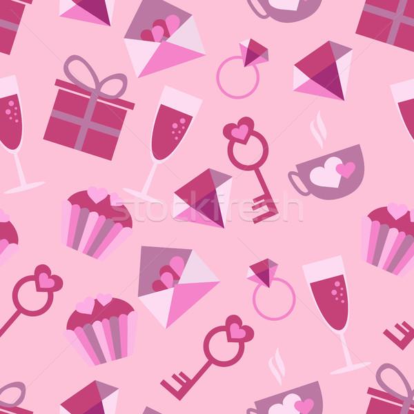 バレンタインデー 愛 アイコン ロマンチックな ストックフォト © Natali_Brill