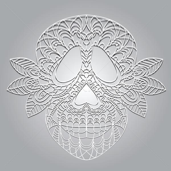 日 死んだ 頭蓋骨 砂糖 花 デザイン ストックフォト © Natali_Brill