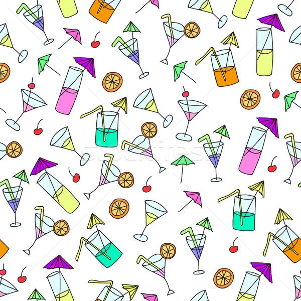 Cocktail bianco texture sfondo Foto d'archivio © Natali_Brill