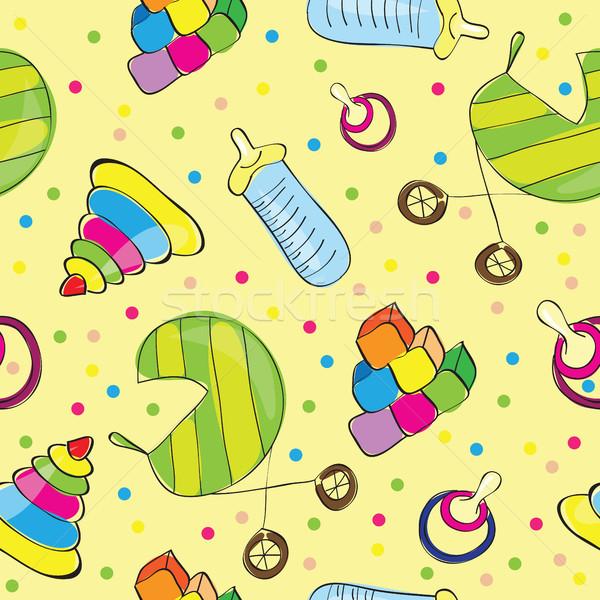 Varietà giocattoli felice frame divertimento palla Foto d'archivio © Natali_Brill