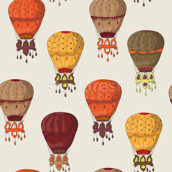 Vintage  seamless pattern of hot air balloons Stock photo © Natali_Brill