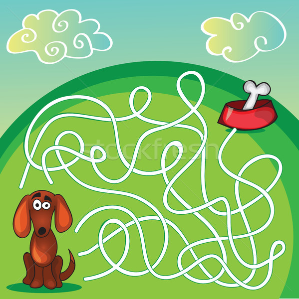Cute Dog's Maze Game  Stock photo © Natali_Brill