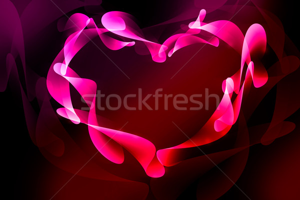 Valentine's day background with hearts Stock photo © Natali_Brill