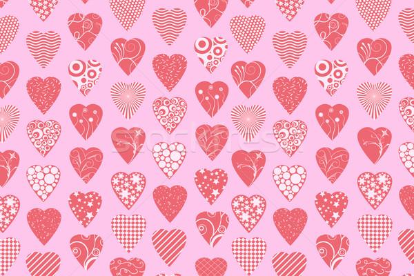 Foto stock: Dia · dos · namorados · corações · casal · fundo · quadro · espaço