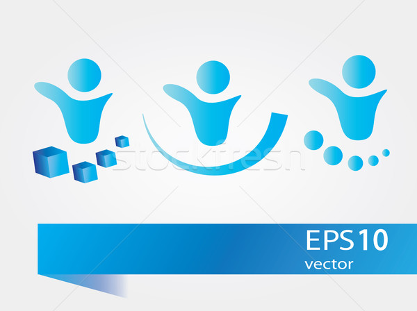 abstract people symbols, vector collection Stock photo © Natali_Brill