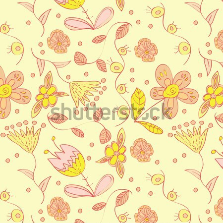 ベクトル フローラル 抽象的な 花 ストックフォト © Natali_Brill
