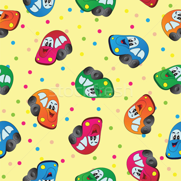 Seamless toy car  background for baby boy Stock photo © Natali_Brill